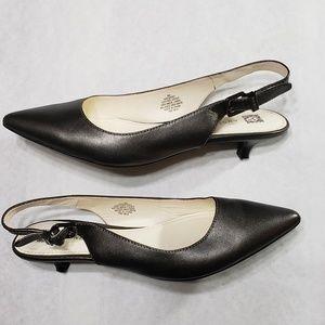 Anne Klein sling back kitten heels sz 8